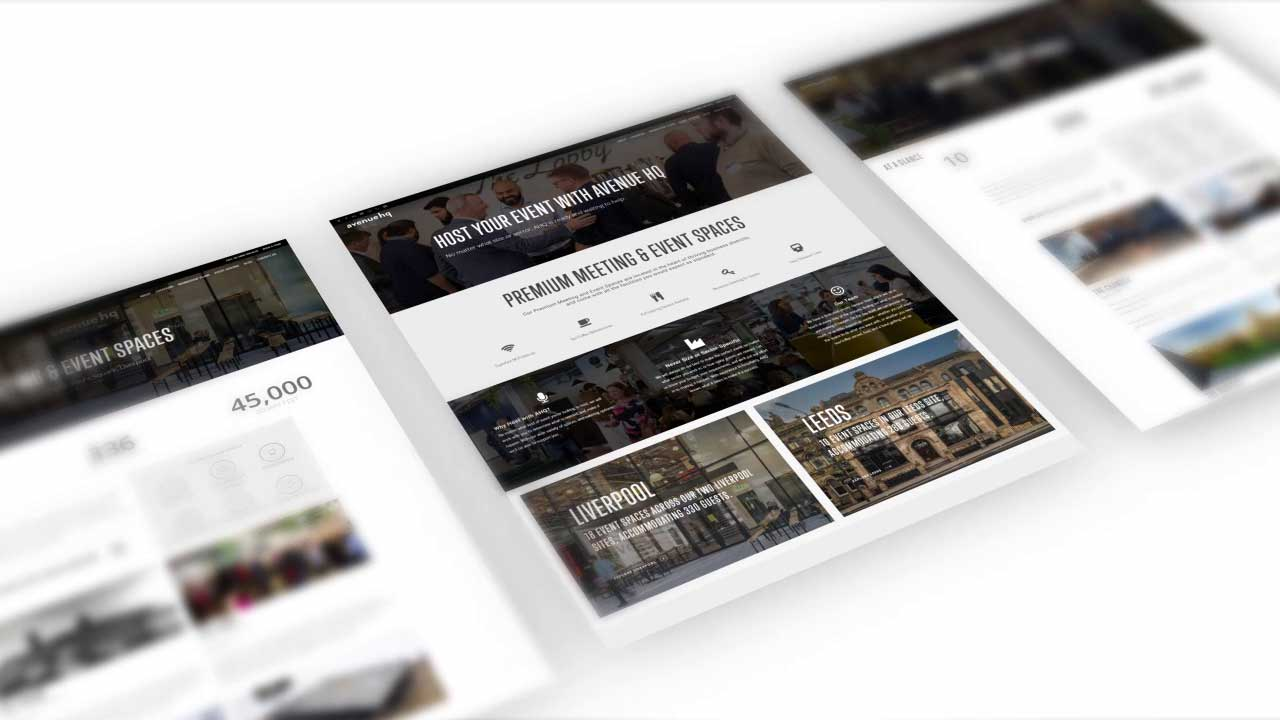New Pages for Avenue HQ Website: Event Hosting in Liverpool & Leeds