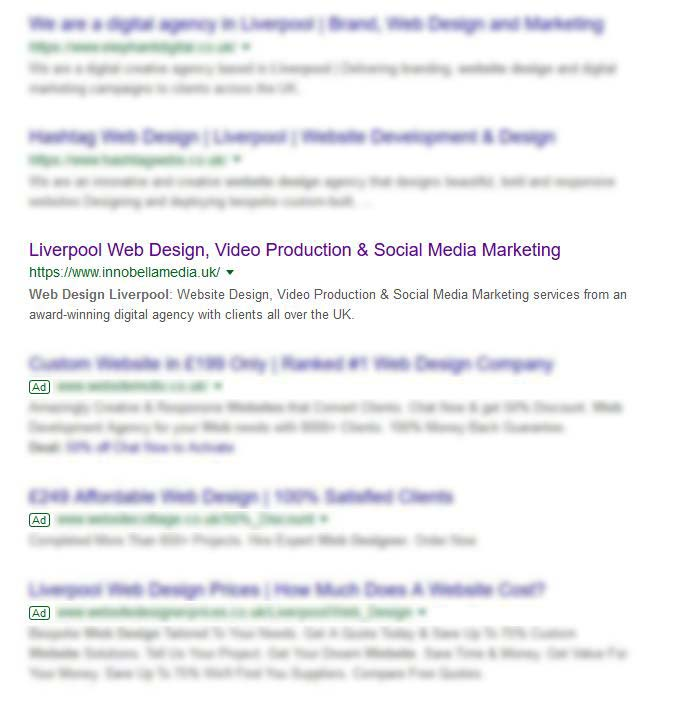 Liverpool Web Design Search Result