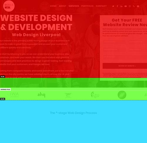 Web Design - Page Heatmap